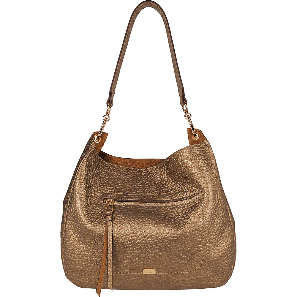 Lodis Borrego Under Lock and Key Nanda Hobo Bronze - Lodis Leather Handbags - Handbags, Leather Handbags