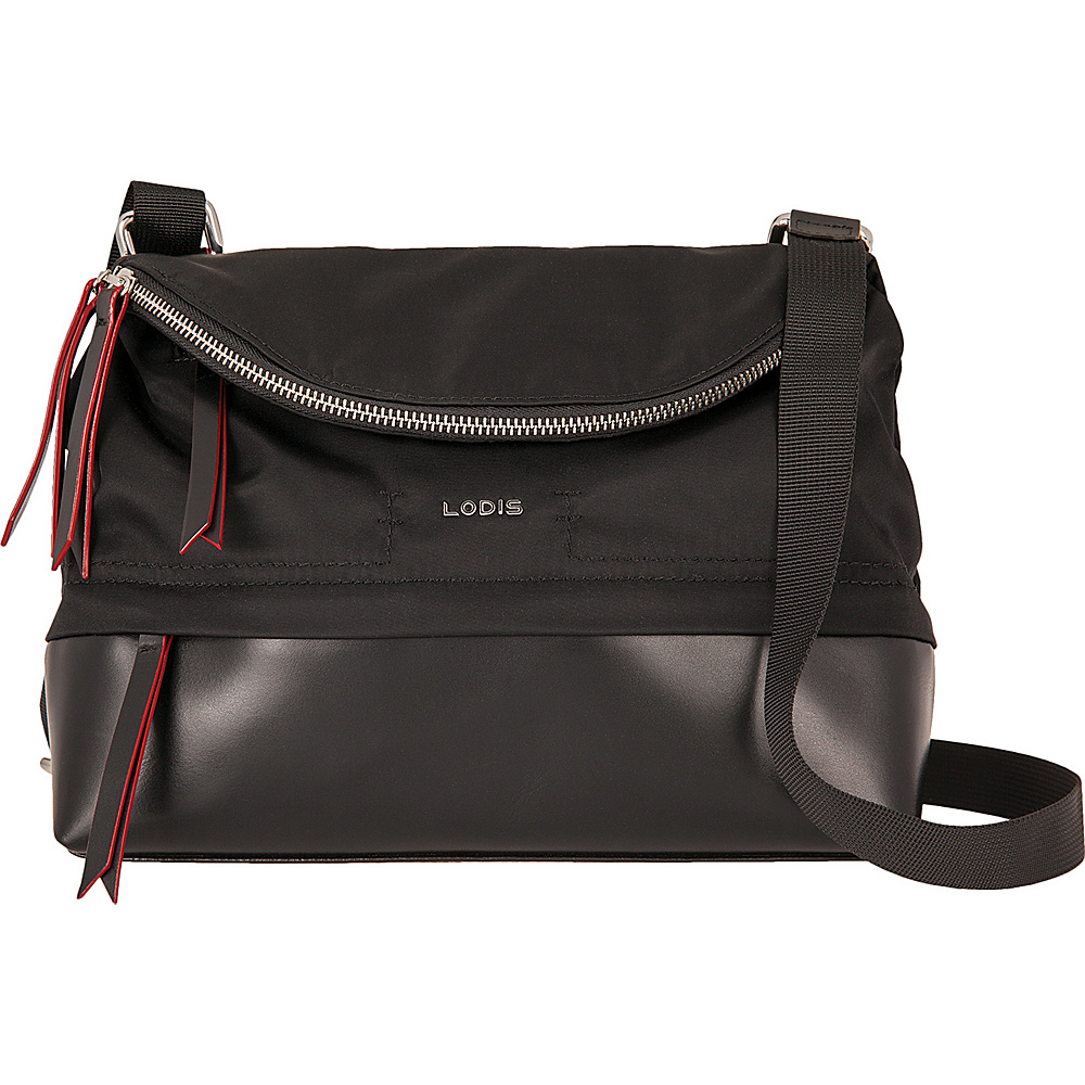 Lodis Kate Nylon Under Lock and Key Yukie Crossbody Black - Lodis Fabric Handbags - Handbags, Fabric Handbags