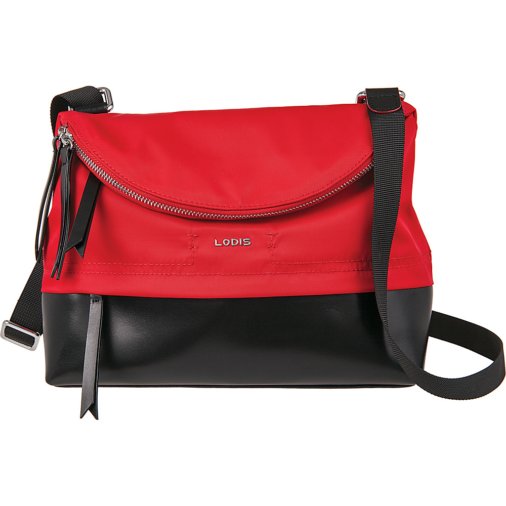 Lodis Kate Nylon Under Lock and Key Yukie Crossbody Red - Lodis Fabric Handbags - Handbags, Fabric Handbags