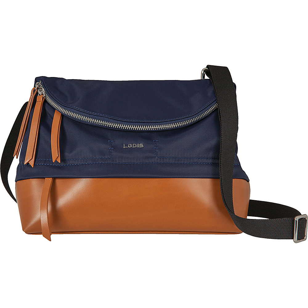 Lodis Kate Nylon Under Lock and Key Yukie Crossbody Navy - Lodis Fabric Handbags - Handbags, Fabric Handbags