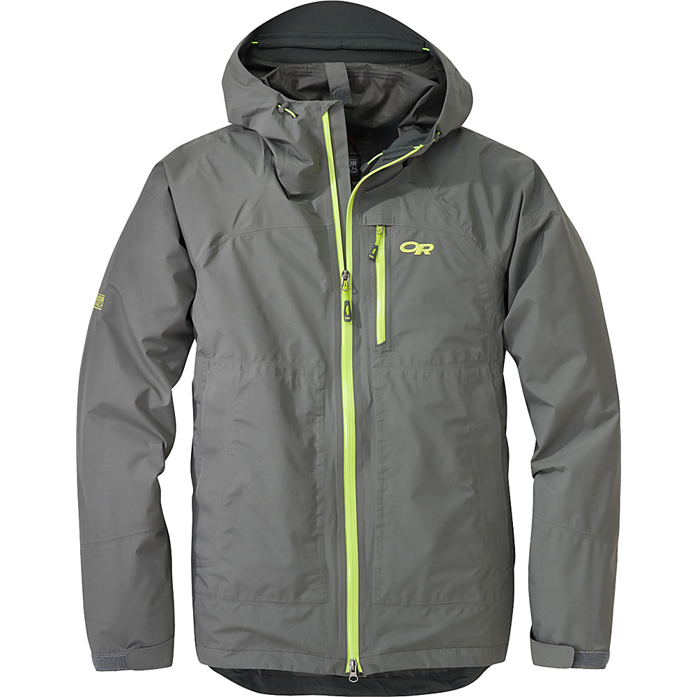 Outdoor Research Foray Jacket M - Pewter/Lemongrass - Outdoor Research Mens Apparel - Apparel & Footwear, Men's Apparel