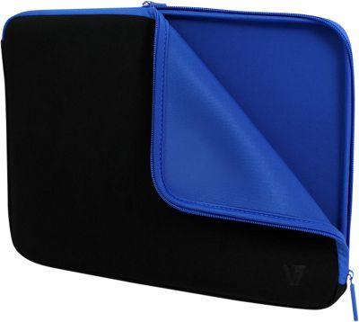 V7 16 inch Elite Neoprene and Lycra Sleeve - Blue Black - V7 Non-Wheeled Business Cases