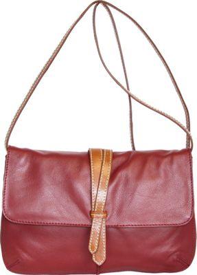Nino Bossi Petunia Bud Crossbody Cabernet - Nino Bossi Leather Handbags