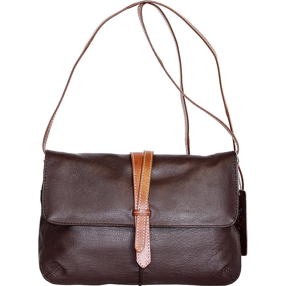 Nino Bossi Petunia Bud Crossbody Chocolate - Nino Bossi Leather Handbags - Handbags, Leather Handbags