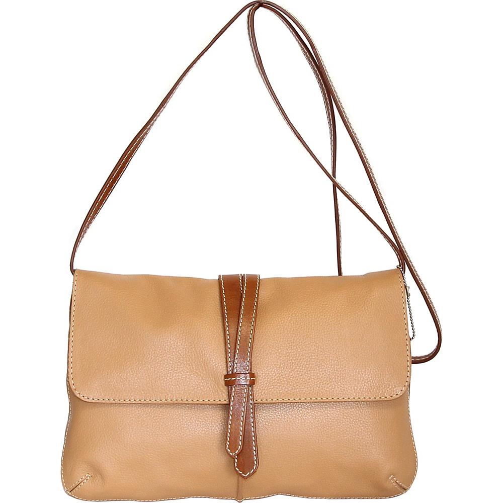 Nino Bossi Petunia Bud Crossbody Peanut - Nino Bossi Leather Handbags - Handbags, Leather Handbags
