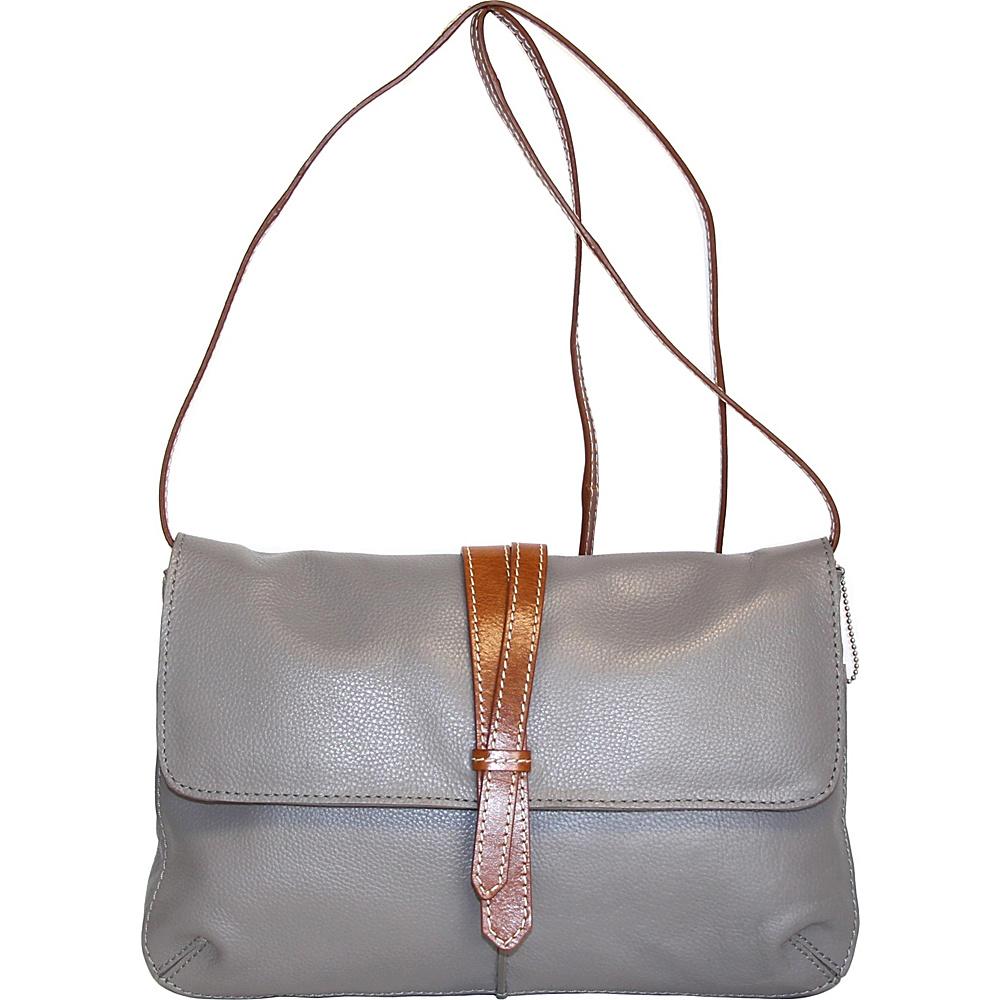 Nino Bossi Petunia Bud Crossbody Stone - Nino Bossi Leather Handbags - Handbags, Leather Handbags
