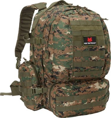 Fox Outdoor Advanced 3-Day Combat Pack Digital Woodland - Fox Outdoor Day Hiking Backpacks