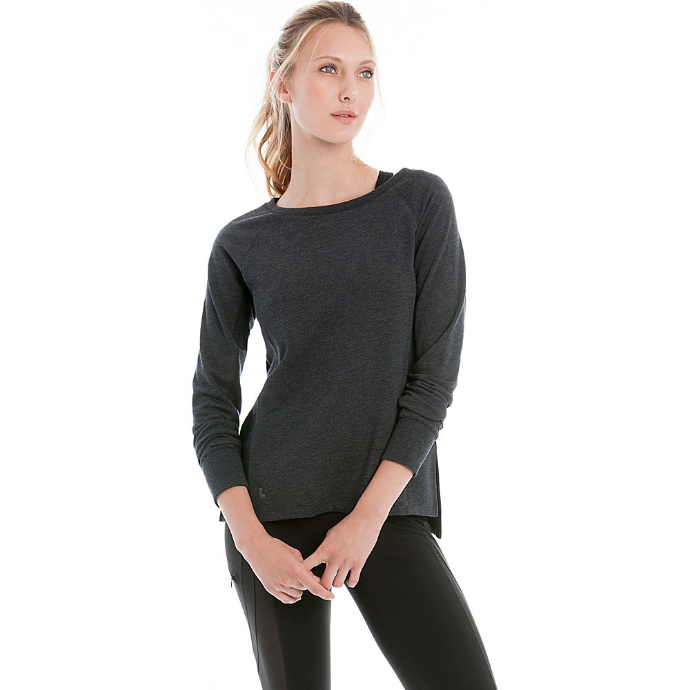 Lole Saya Top S - Black Heather - Lole Womens Apparel - Apparel & Footwear, Women's Apparel