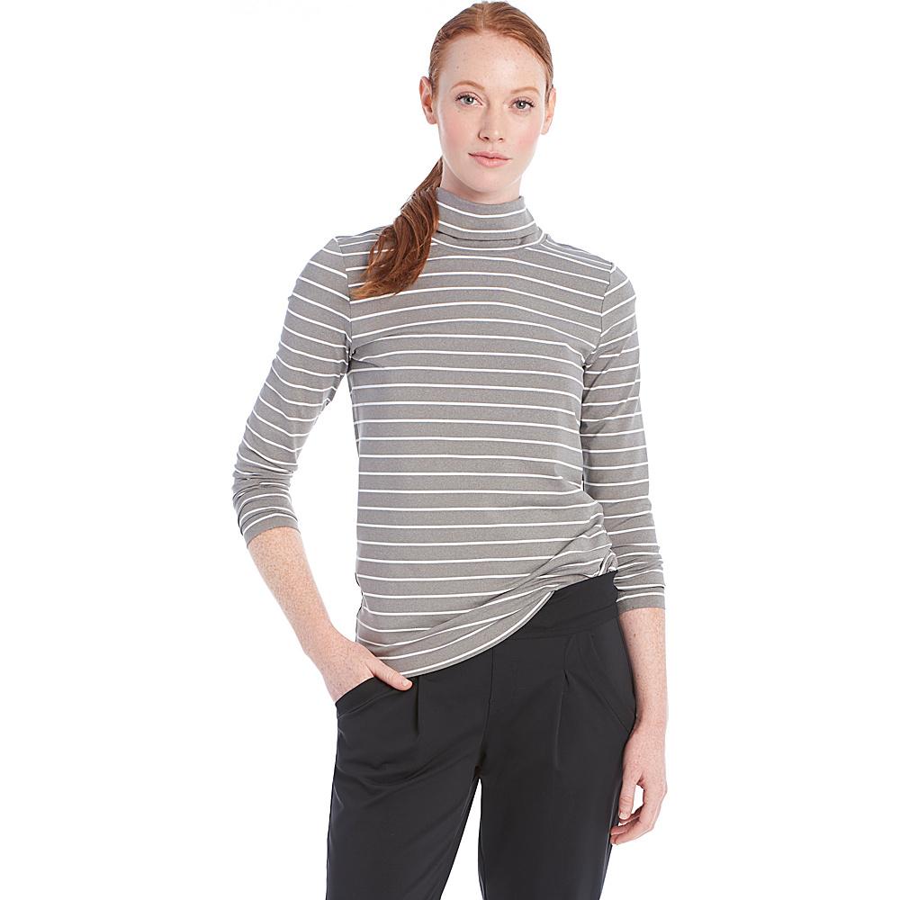 Lole Gloria Top M - Medium Grey Stripe - Lole Womens Apparel - Apparel & Footwear, Women's Apparel
