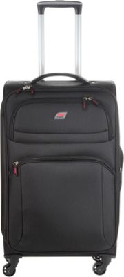 Andare Buenos Aires 25 inch 4 Wheel Spinner Upright Black - Andare Softside Checked