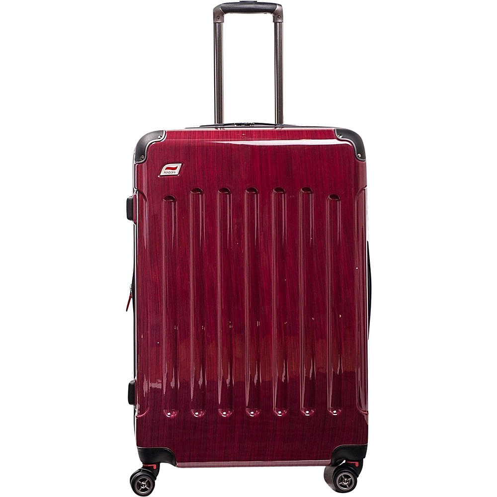 Andare Barcelona 24 8 Wheel Spinner Upright Ruby Andare Hardside Checked