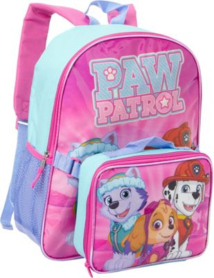Paw Patrol Sky and Friends Backpack with Lunch Pink - Paw Patrol Everyday Backpacks