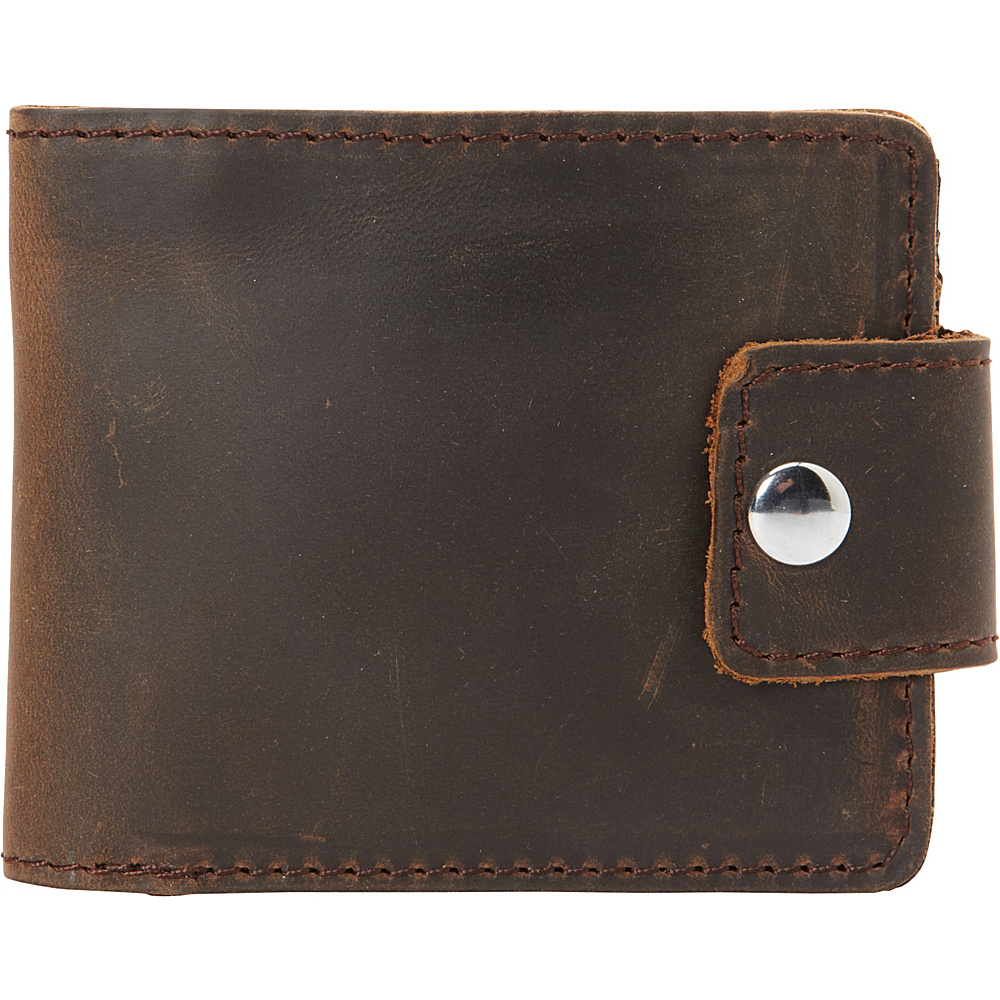 Vagabond Traveler Full Grain Leather Cowhide Classic Wallet Dark Brown - Vagabond Traveler Mens Wallets - Work Bags & Briefcases, Men's Wallets