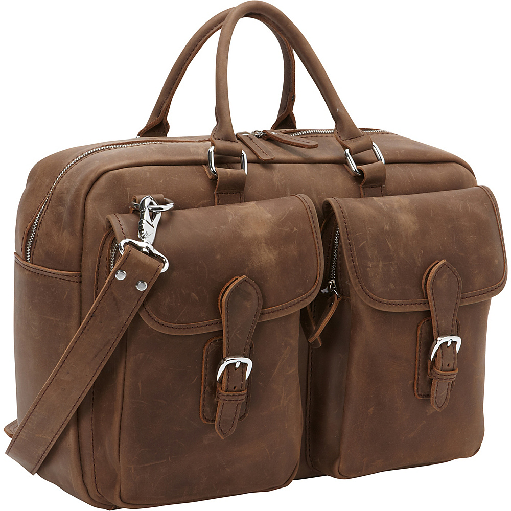 Vagabond Traveler Cowhide Leather Duffle Gym Travel Tote Distress - Vagabond Traveler Travel Duffels