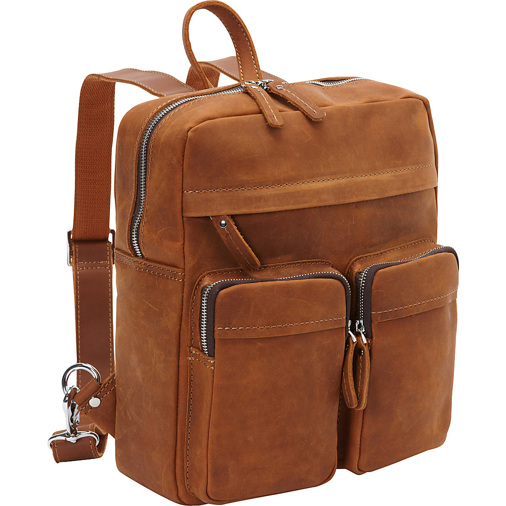 Vagabond Traveler Full Grain Cowhide Leather Backpack Brown - Vagabond Traveler Everyday Backpacks - Backpacks, Everyday Backpacks