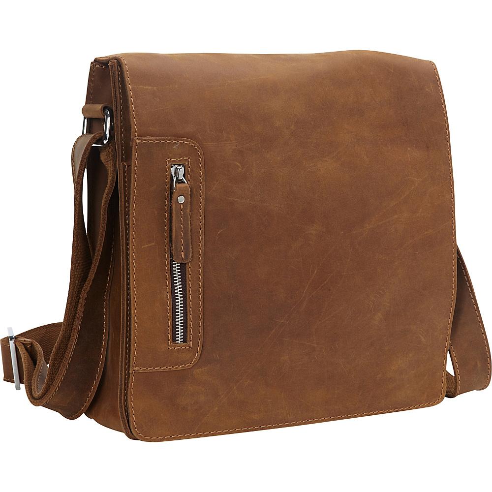 Vagabond Traveler Cowhide Leather Messenger Bag Brown - Vagabond Traveler Messenger Bags - Work Bags & Briefcases, Messenger Bags