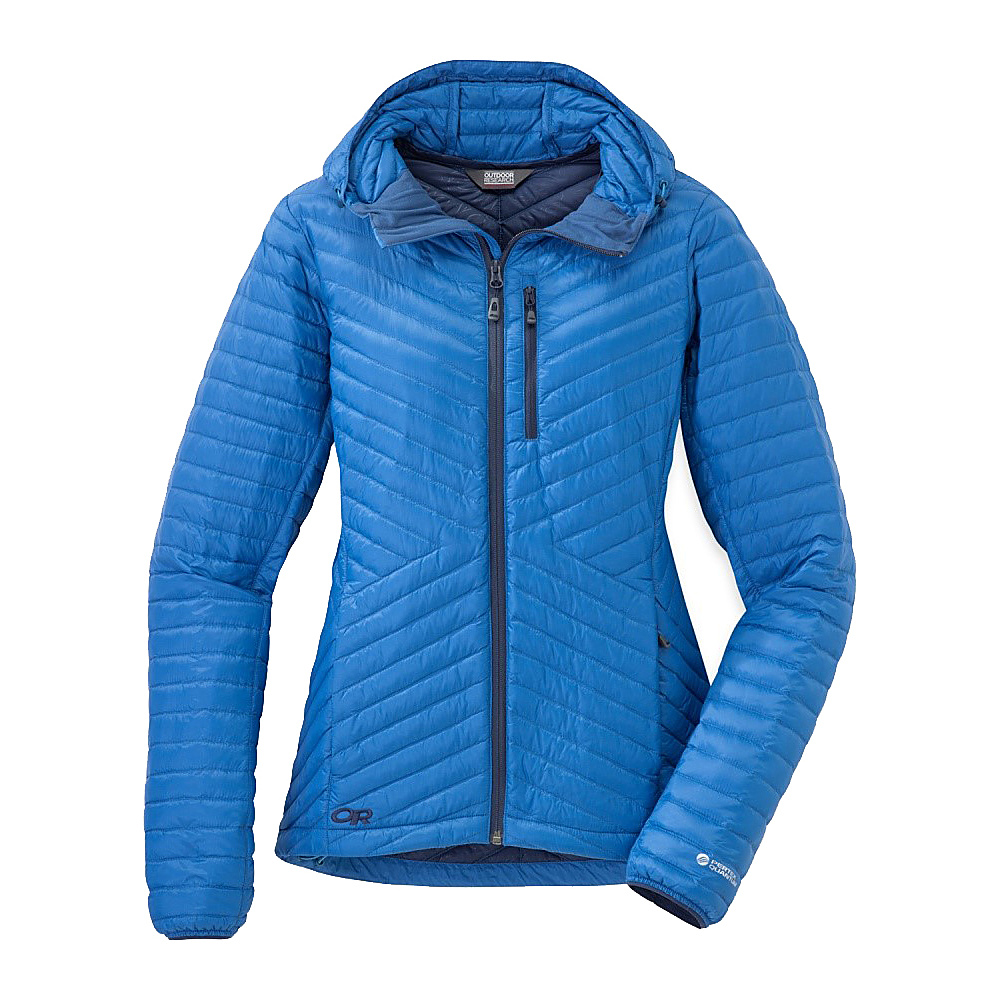 Outdoor Research Womens Verismo Hooded Jacket S - Cornflower - Outdoor Research Womens Apparel - Apparel & Footwear, Women's Apparel