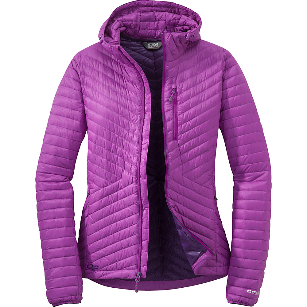 Outdoor Research Womens Verismo Hooded Jacket S - Ultraviolet - Outdoor Research Womens Apparel - Apparel & Footwear, Women's Apparel