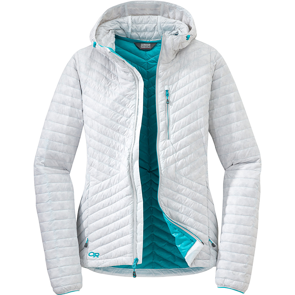 Outdoor Research Womens Verismo Hooded Jacket XS - White - Outdoor Research Womens Apparel - Apparel & Footwear, Women's Apparel