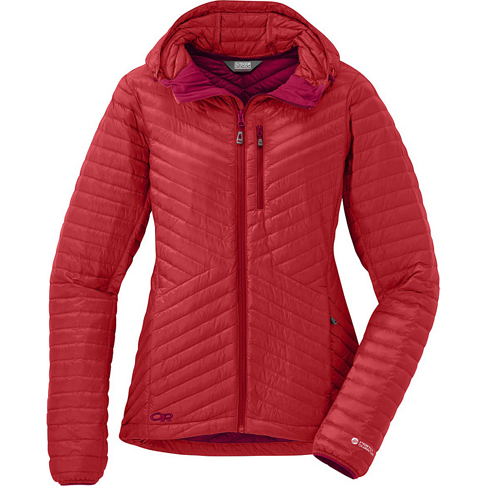 Outdoor Research Womens Verismo Hooded Jacket L - Flame - Outdoor Research Womens Apparel - Apparel & Footwear, Women's Apparel