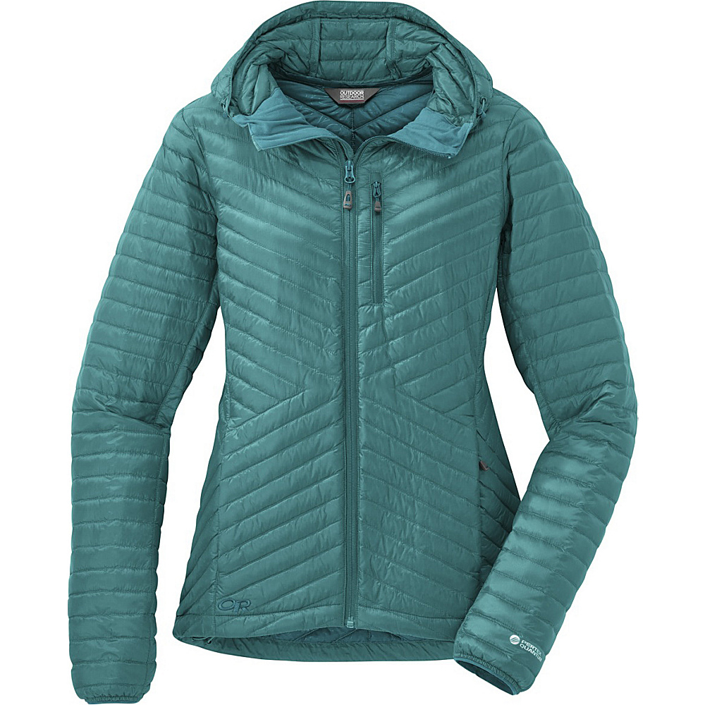 Outdoor Research Womens Verismo Hooded Jacket S - Atlantis - Outdoor Research Womens Apparel - Apparel & Footwear, Women's Apparel