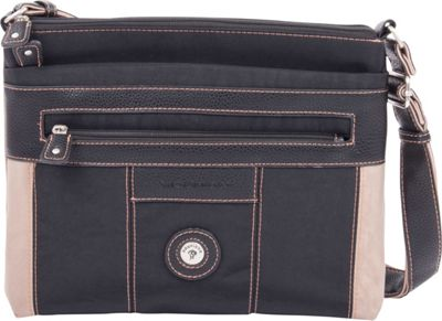 Mouflon Original RFID Bicolore Crossbody Black/Taupe - Mouflon Original Fabric Handbags
