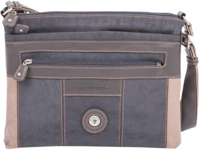 Mouflon Original RFID Bicolore Crossbody Grey/Taupe - Mouflon Original Fabric Handbags
