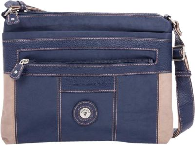 Mouflon Original RFID Bicolore Crossbody Navy/Taupe - Mouflon Original Fabric Handbags
