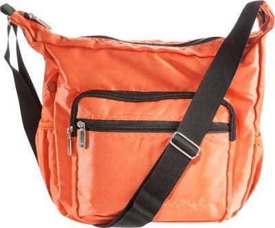 Suvelle Hobo Travel Everyday Shoulder Bag Orange - Suvelle Fabric Handbags