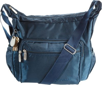 Suvelle Hobo Travel Everyday Shoulder Bag Navy - Suvelle Fabric Handbags