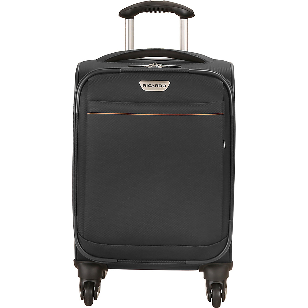 Ricardo Beverly Hills Mar Vista 2.0 17 Inch Carry On Spinner Upright Black Ricardo Beverly Hills Softside Carry On