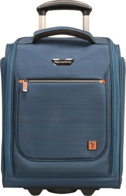 Ricardo Beverly Hills San Marcos 16 inch Under Seat Rolling Tote Mid Teal - Ricardo Beverly Hills Softside Carry-On