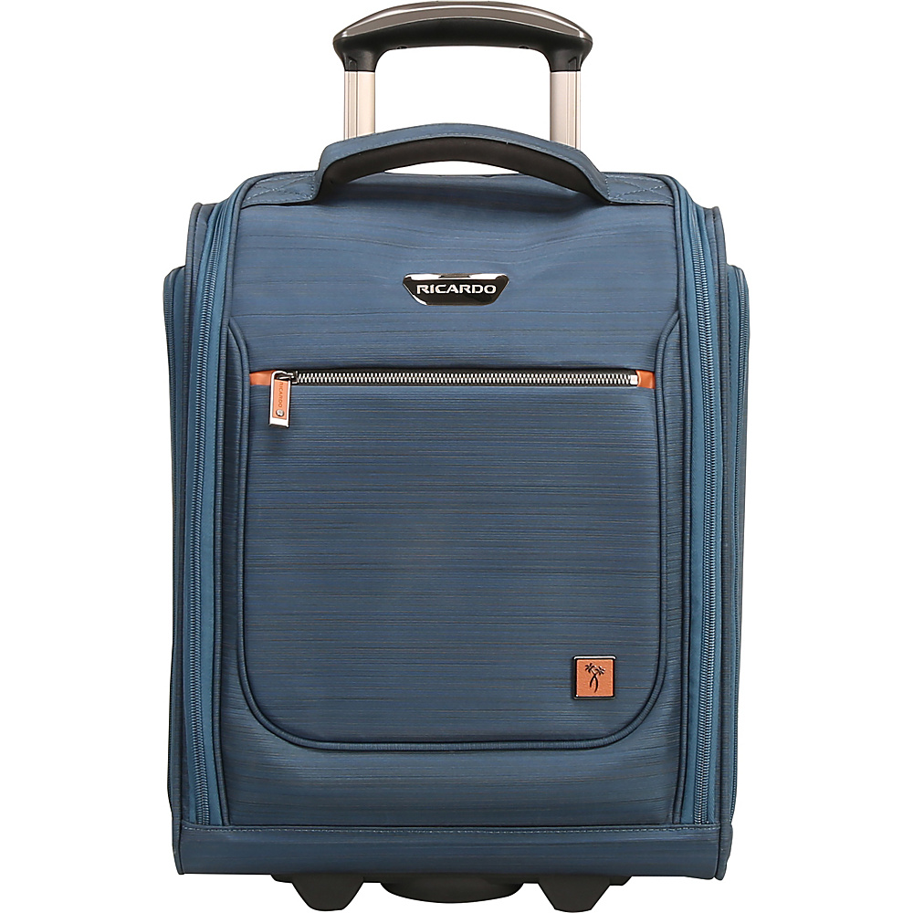 "Ricardo Beverly Hills San Marcos 16"" Under Seat Rolling Tote Mid Teal - Ricardo Beverly Hills Softside Carry-On"
