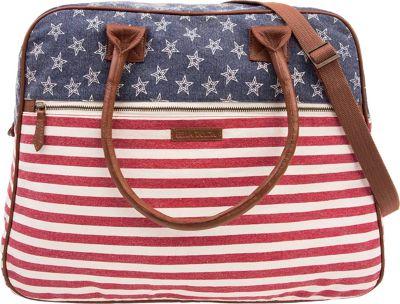 Bella Taylor Weekender Satchel Madison White - Bella Taylor Fabric Handbags