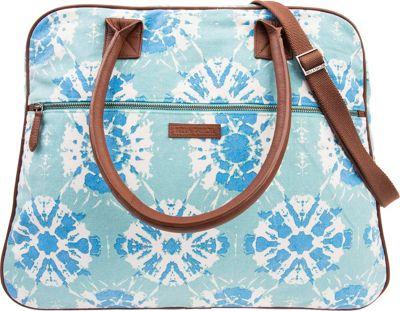 Bella Taylor Weekender Satchel Sierra Blue - Bella Taylor Fabric Handbags