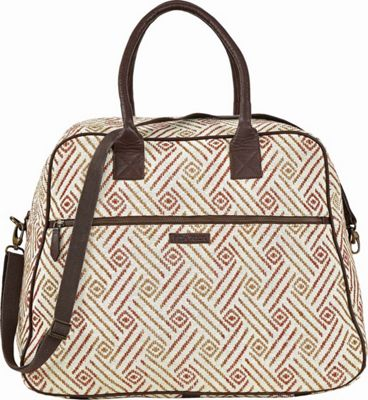Bella Taylor Weekender Satchel White - Bella Taylor Fabric Handbags