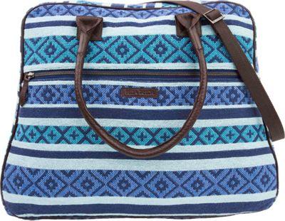 Bella Taylor Weekender Satchel Eliza Blue - Bella Taylor Fabric Handbags