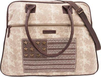 Bella Taylor Weekender Satchel Ellis Tan - Bella Taylor Fabric Handbags
