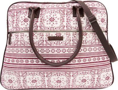 Bella Taylor Weekender Satchel Kayla White - Bella Taylor Fabric Handbags