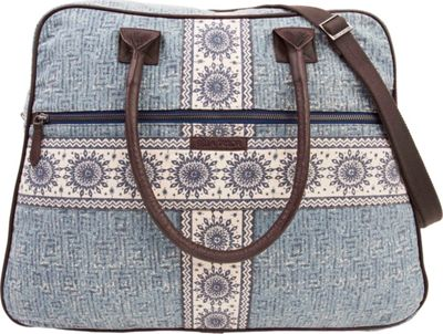 Bella Taylor Weekender Satchel Kendall Blue - Bella Taylor Fabric Handbags