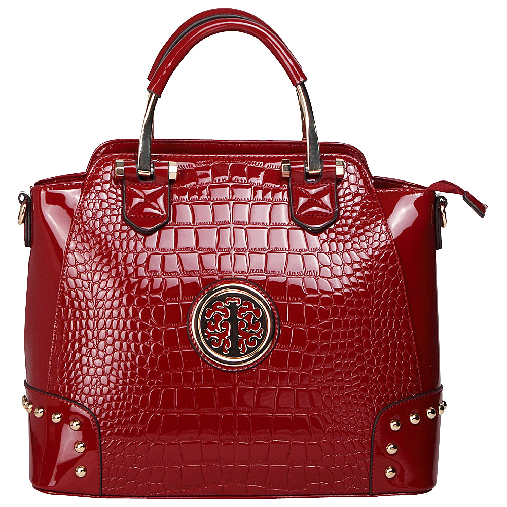 MKF Collection by Mia K. Farrow Arianna Croc Satchel Red - MKF Collection by Mia K. Farrow Gym Bags - Sports, Gym Bags