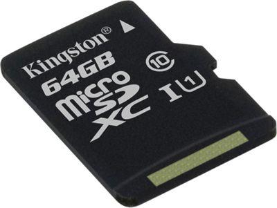 Kingston 64GB microSDHC/microSDXC Class 10 UHS-I Card Black - Kingston Electronic Accessories