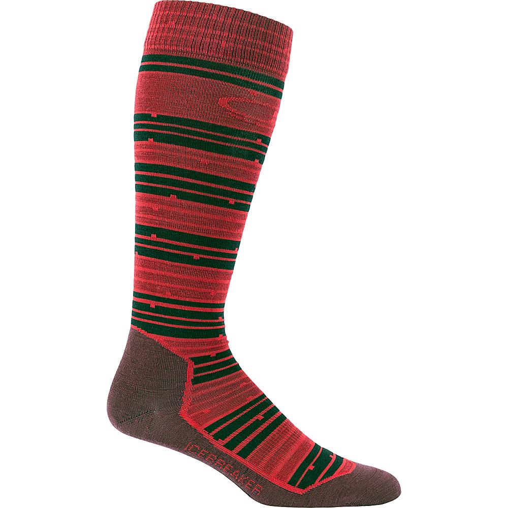 Icebreaker Mens Ski+ Ultra Light OTC Toothstripe Sock M - Fossil HTHR - Icebreaker Legwear/Socks - Fashion Accessories, Legwear/Socks