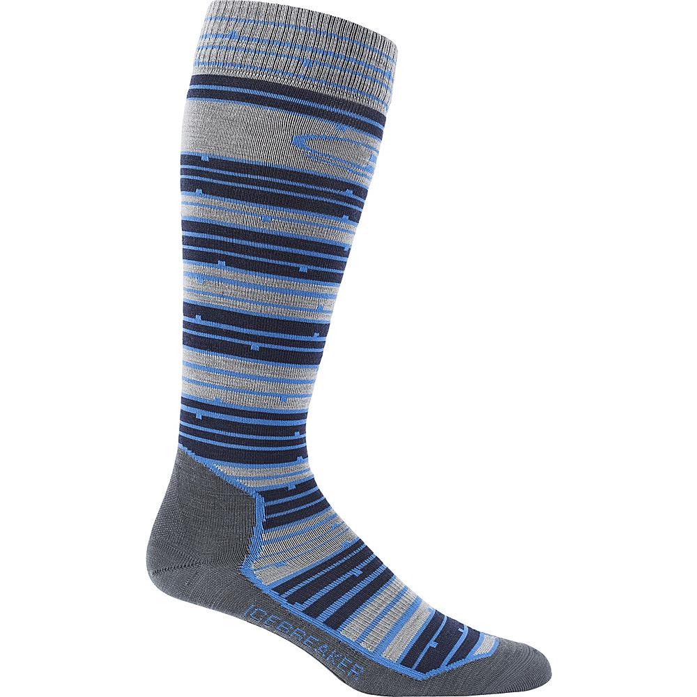 Icebreaker Mens Ski+ Ultra Light OTC Toothstripe Sock L - Fossil HTHR - Icebreaker Legwear/Socks - Fashion Accessories, Legwear/Socks
