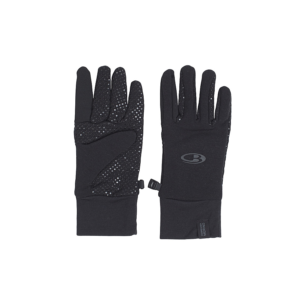 Icebreaker Adult Sierra Gloves M - Black - Icebreaker Hats/Gloves/Scarves - Fashion Accessories, Hats/Gloves/Scarves