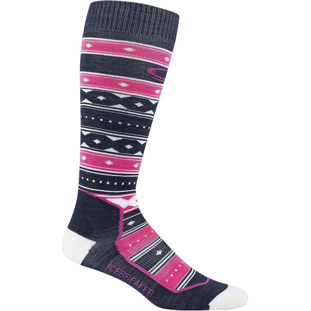 Icebreaker Womens Ski+ Ultra Light OTC Icon Fairisle Sock S - Admiral - Icebreaker Womens Legwear/Socks - Apparel & Footwear, Women's Legwear/Socks