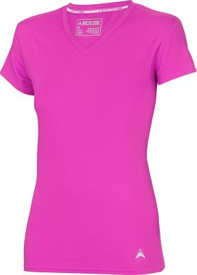 Arctic Cool Womens V-Neck Instant Cooling Shirt S - Power Fuchsia - Arctic Cool Women's Apparel