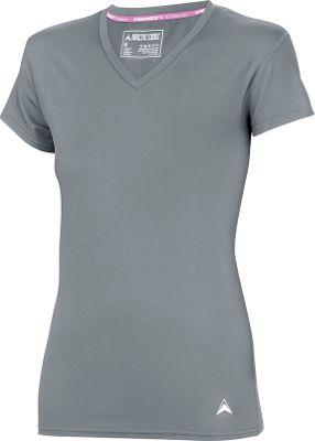 Arctic Cool Womens V-Neck Instant Cooling Shirt S - Storm Grey - Arctic Cool Women's Apparel