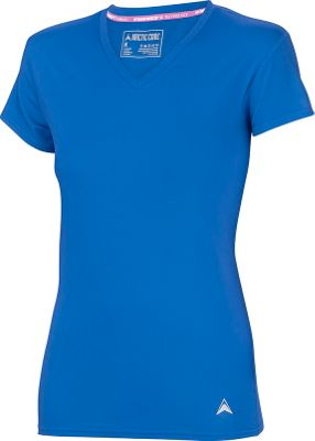 Arctic Cool Womens V-Neck Instant Cooling Shirt L - Polar Blue - Arctic Cool Women's Apparel
