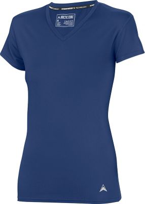 Arctic Cool Womens V-Neck Instant Cooling Shirt L - Midnight Blue - Arctic Cool Women's Apparel